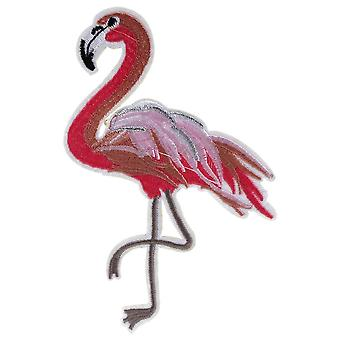 Baumwoll-Flamingo Iron On Patch