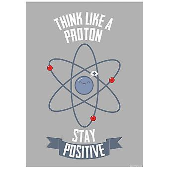 Grindstore Think Like A Proton Mini Poster