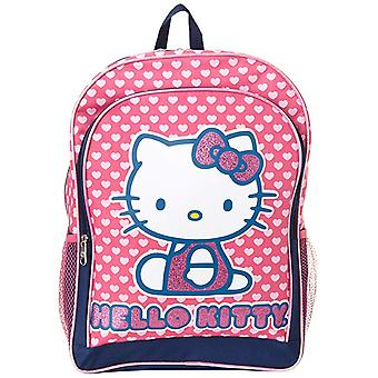 Backpack - Hello Kitty - Hearts Glitter Pink 16