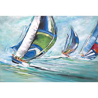 Carolines Treasures  JMK1030PLMT Boat Race Fabric Placemat
