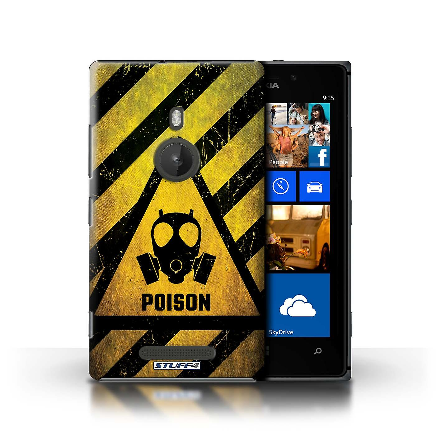 STUFF4 Case/Cover for Nokia Lumia 925/Poison/Hazard Warning Signs