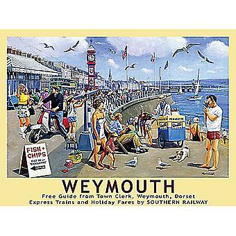 Weymouth, Dorset, petit panneau de métal 200 x 150 mm (og)