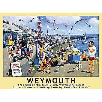 Weymouth, Dorset, pieni metalli merkki 200 x 150 mm (og)