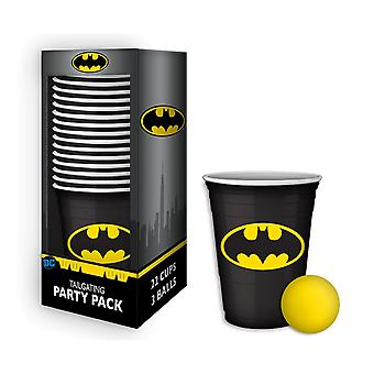 Batman øl pong kopper tailgating Party Pack