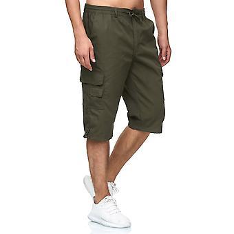 Men's Cargo Shorts 3/4 Leisure Pants Trekking Trousers Lightweight Fabric Casual