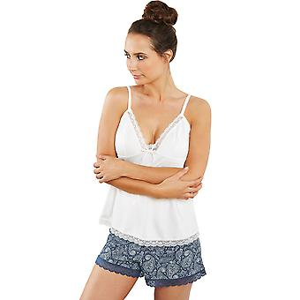 Fyr de France 18023-1-093 kvinders hvid Solid farve pyjamas pyjamas Top
