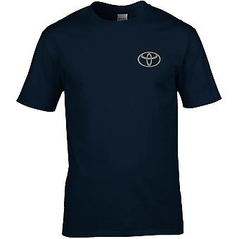Toyota Car Embroidered Logo - Cotton Premium T-Shirt
