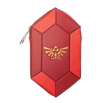 Zelda Coin Purse Gem Saped Hyrule Crest Logo new Official Nintendo Red