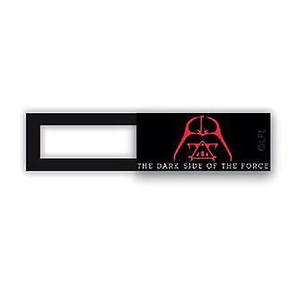 Webcam cover / schuifje  - licentie™ - Dart Vader 03 - zwart