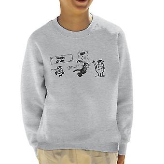 Krazy Kat Zip Pow Kid's Sweatshirt