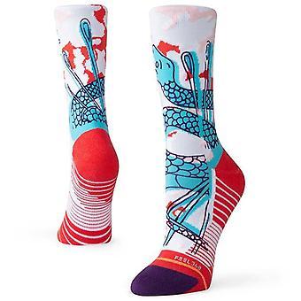 Stance Needles Crew Socks in White