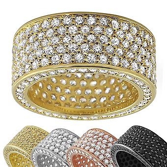 Iced Out Bling Micro Pave Ring - 360 ETERNITY Zirconia