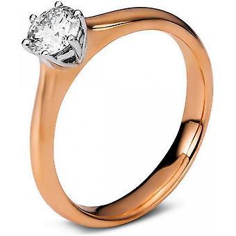 خاتم الماس - 18K 750 الذهب الأحمر - الذهب الأبيض - 0.5 قيراط.
