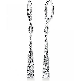 Diamond earrings earrings - 14K 585 white gold - 0.48 ct.