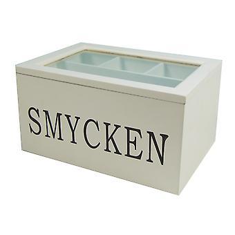 Korut laatikko puu valkoinen Shabby chic korut laatikko
