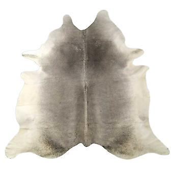 6 ft luonnonharmaa brindled cowhide matto