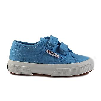Superga COTJ Strap Canvas Classic Riptape Blue Unisex Shoes