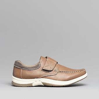 Dr Keller Ant Mens Touch Fasten Shoes Tan