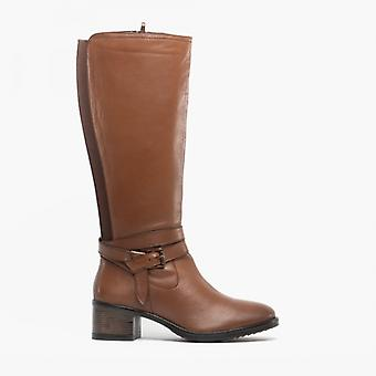 Lotus Janessa Ladies Pelle Tall Boots Tan