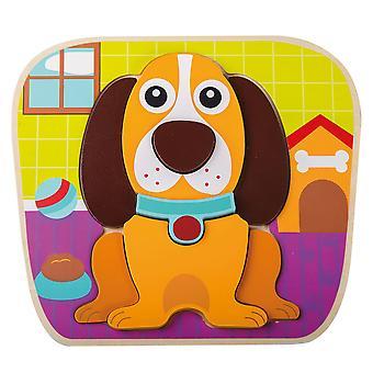 Jouéco Houten Dierenpuzzel - Hond