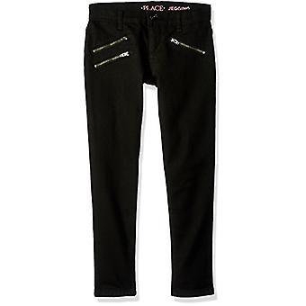The Children's Place Girls' Little Zipper Pocket Skinny, Black, Size 6x/7