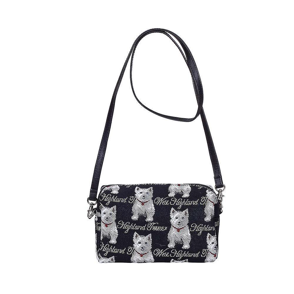 Westie shoulder hip bag by signare tapestry / hpbg-wes
