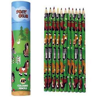 Pony 12 väri kynät