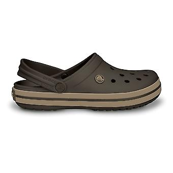 Crocs Crocband Shoe Espresso/Khaki, All The Comfort Of A Classic But With A Retro Look