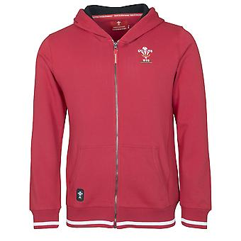 Wales WRU Rugby Kids Full Zip Hoodie