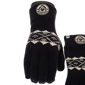 Манчестер Сити ФК Фэрайл взрослых унисекс Вязаные перчатки