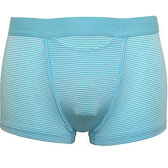 HOM Simon Stripes HO1 Boxer Trunk, Bleu Turquoise