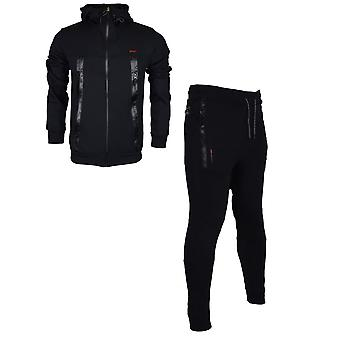 Born Rich Smalling Redknapp Hooded Zip Up Black Tracksuit