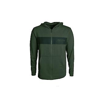 Hugo Boss Leisure Wear Hugo Boss Men's Dark Green Hooded Jacket