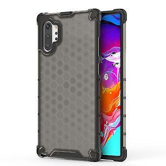 Per Samsung Galaxy Note 10 Plus Custodia Black Plastic Protective Honeycomb Back