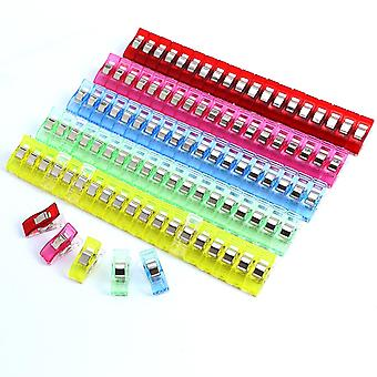 Pack 100 Pieces Wonder Clips Cloth Clamps Sewing Wonder Clips Binding Plastic Clips | Assorted Colors