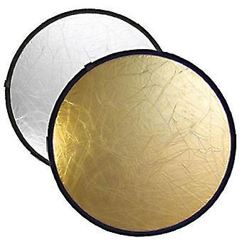BRESSER BR-TR5 2-i-1 vikreflektor guld/silver 60cm rund