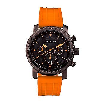 Morphic M90 Series Chronograph Watch w/Date - Orange/Black