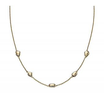 Joshua James Precious 9ct Yellow Gold Organic Oval Necklace