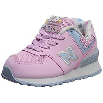 New Balance Girls 574v1 Lace-Up Sneaker, Crystal Rose/Su, 5.5 R M ABD Bebek (...
