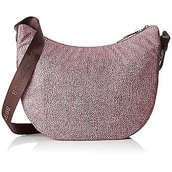 Borbonese 934371296 Women's Pink Shoulder Bag (Quartz) 35x38x15 cm (W x H x L)
