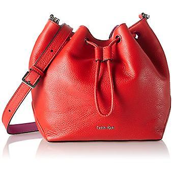Calvin Klein Jeans MIA Mini Drawstring Red Woman Strap Bag (Fiery Red/Berry 908) 10x20x23 cm (B x H x T)