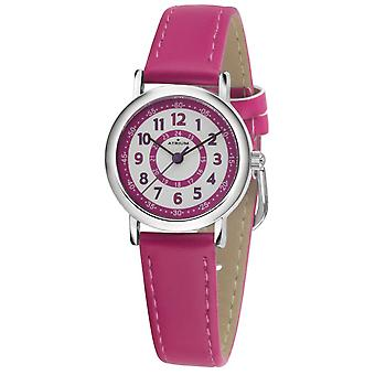 ATRIUM reloj de pulsera de los niños de cuarzo analógico niña piel sintética A31-101 rosa