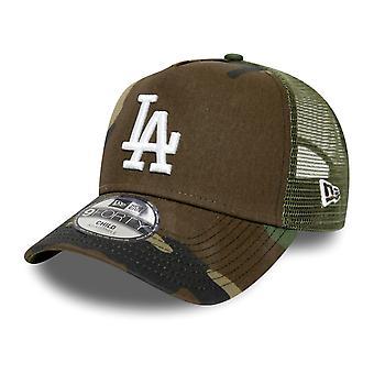 New Era 9Forty Kids Trucker Cap - LA Dodgers wood camo