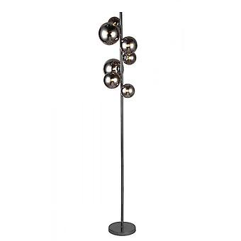 WOFI Villa moderne led gulv lampe i svart og krom finish 3014.07.24.9000