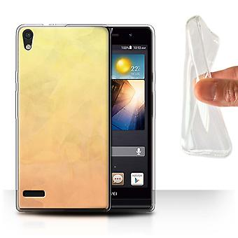 STUFF4 Gel TPU Case/Cover for Huawei Ascend P6/Fire/Watercolour/Abstract Ombre