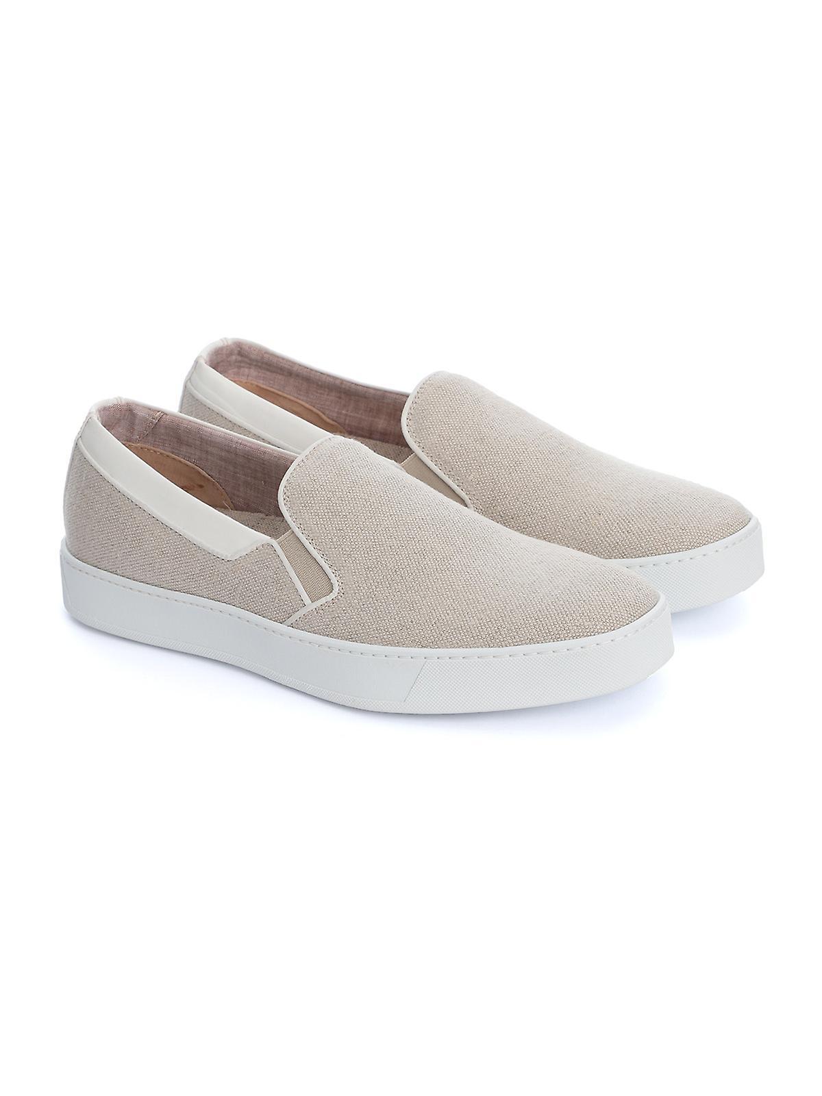 Corneliani 85tm610120926036 Uomini's Beige Lino Slip On Sneakers 8OE8aF