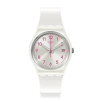 Swatch Gw411 Pearlazing White Silicone Watch