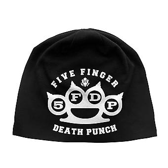 Five Finger Death Punch Beanie Hat Band Logo new Official Black Jersey print