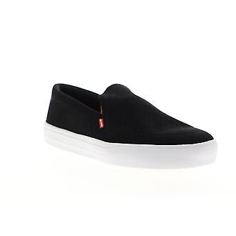 Globe Castro LYT  Mens Black Suede Slip On Athletic Skate Shoes