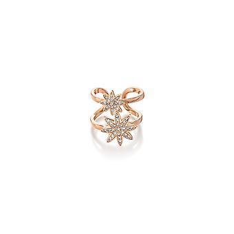 Vixi Nova Rose Gold Double Star Verstelbare Ring Dames Sieraden NOVA-2R. R